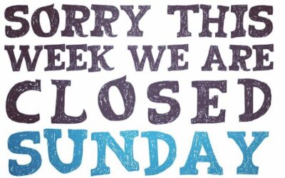 Closed Sunday – 3rd October 2021